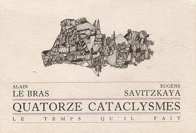poésie,eugène savitzkaya,quatorze cataclysmes